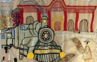 Mujeres ovallinas tejieron la historia del tren en Ovalle