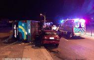 Dos accidentes vehiculares impactaron la noche del martes en Ovalle