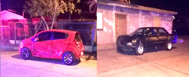 Colisión entre automóviles deja dos personas lesionadas