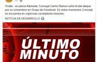 """Desmienten """"brutal ataque"""" a Concejal Carlos Ramos en la Alameda"""