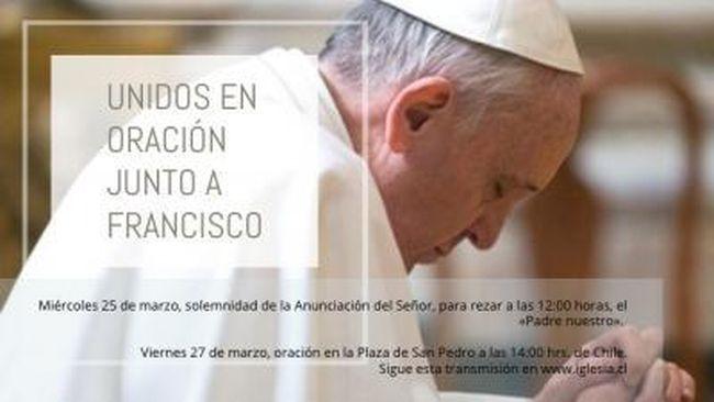 Arzobispo invita a unirse hoy en oración junto al Papa Francisco por Covid-19