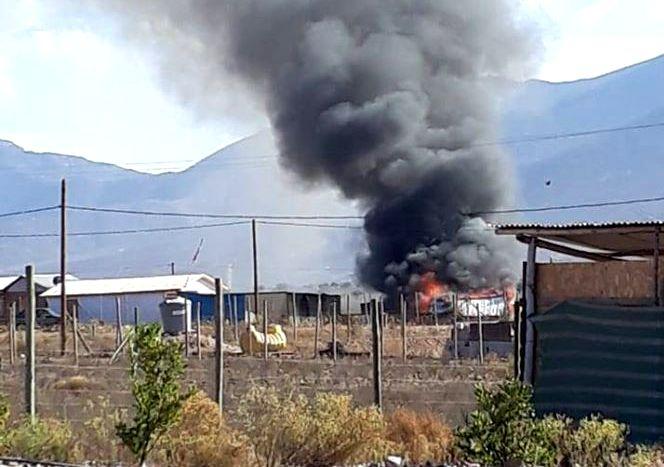 Vivienda afectada por voraz incendio en localidad vecina a Ovalle