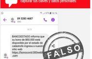 Advierten a clientes de banco de mensajes falsos ofreciendo bono de $ 50.000