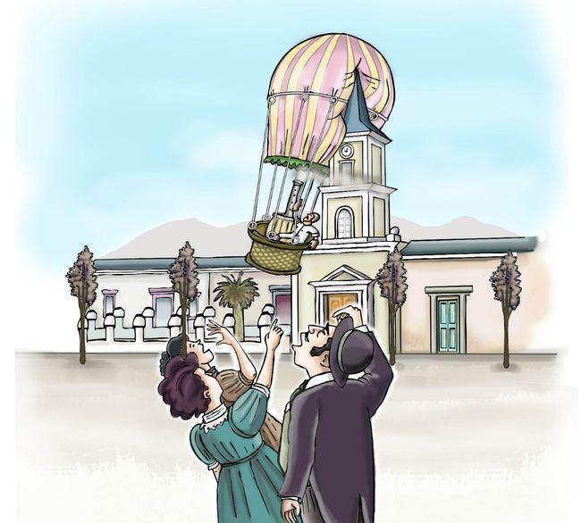 El día que un globo aerostático se estrelló con la cúpula de la Iglesia San Vicente Ferrer