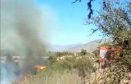 Bomberos de Ovalle y Punitaqui trabajan en incendio en sector Lourdes