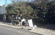 Automóvil vuelca en peligroso tramo de la avenida Costanera