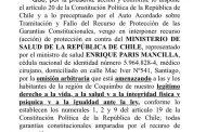 Interponen recurso de protección contra el MINSAL por no decretar cuarentena regional