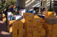 Montepatrinos reciben más de 10 mil cajas de alimento