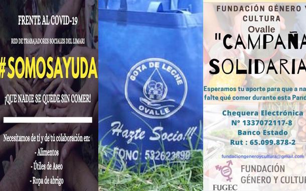 Campañas solidarias: organizaciones sociales y profesionales continúan apoyo a la comunidad