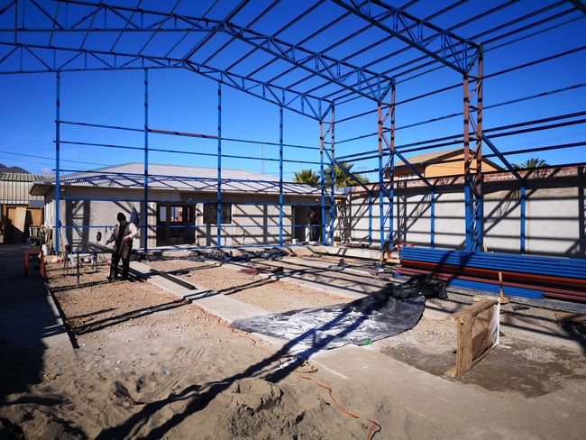 """En la """"quemada"""" construcción de nueva sede de la Asociación de Rayuela de Ovalle"""