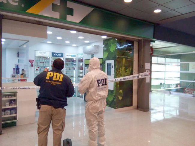 PDI investiga robo en Farmacia de Supermercado de calle Tangue de Ovalle