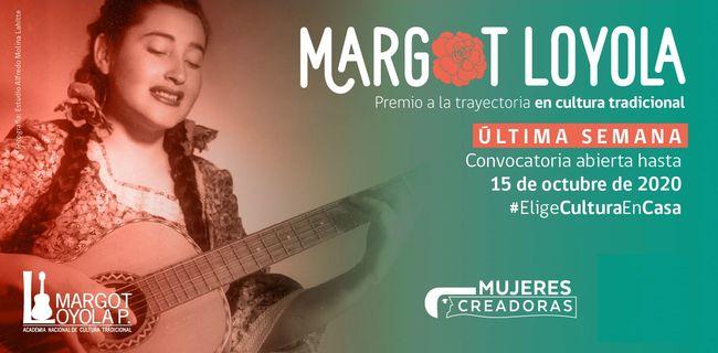 ¡Último llamado! Invitan a postular al Premio Margot Loyola Palacios