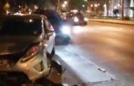 Automóvil colisiona kiosko de revistas en céntrica esquina de Ovalle