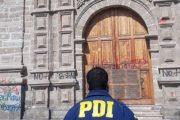 PDI investiga incendio en Iglesia San Francisco en La Serena
