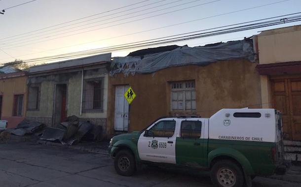 Dos casas con pérdida total tras incendio de anoche en calle Vicuña Mackenna
