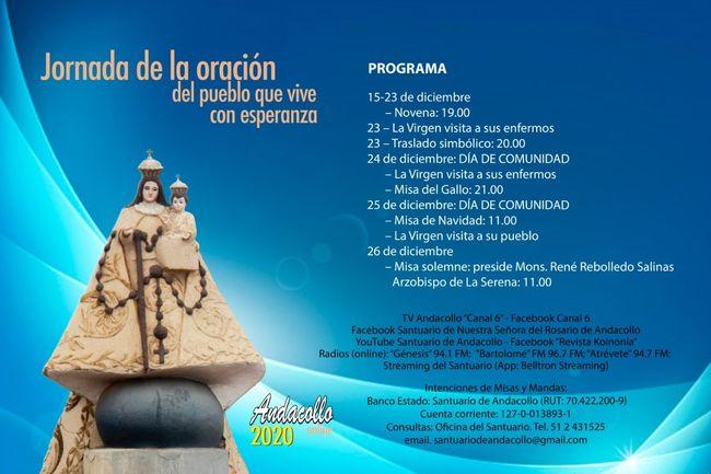 Dan a conocer programa para versión digital de Fiesta Grande en Andacollo