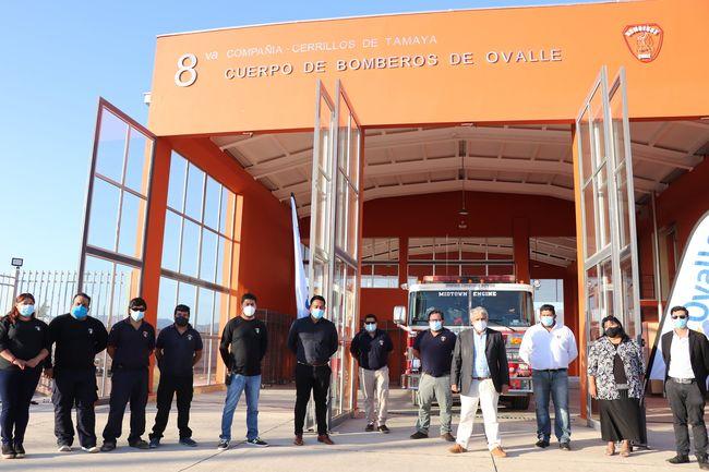 Municipio de Ovalle entregó el nuevo cuartel de Bomberos de Cerrillos de Tamaya