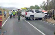 Una persona fallecida y dos heridas  de gravedad deja colisión en Ovalle