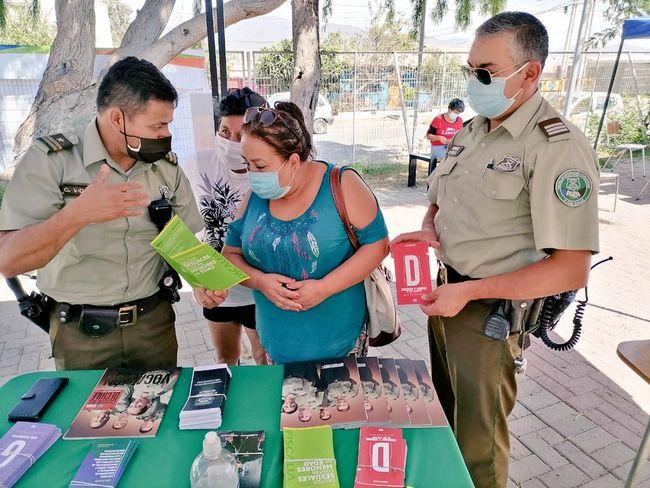 Ovalle: carabineros entregó recomendaciones a la comunidad para evitar delitos
