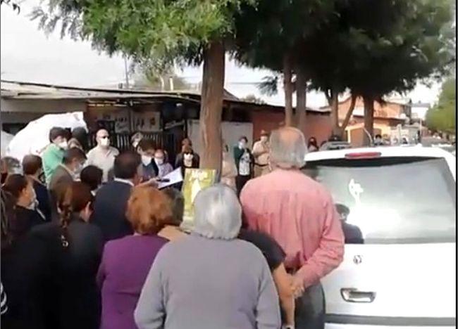 Emocionante despedida a conocida vecina de la población Fray Jorge