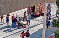 El llamado de la sirena de Bomberos: accidente de ciclista en esquina céntrica