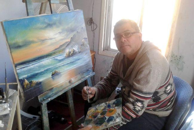 El artista ovallino que le enseña a pintar a aficionados del mundo a través de internet
