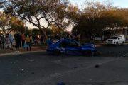 Tres heridos en colisión de alto impacto entre colectivo y automóvil particular